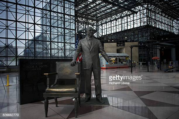 Statue of US Senator Jacob K. Javits at the Jacob K. Javits Convention Center in New York on Friday, May 8, 2009. New York State Gov. Andrew Cuomo...