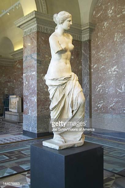 Statue of Venus de Milo Greece ca 150125 BC at the Louvre Museum Paris France
