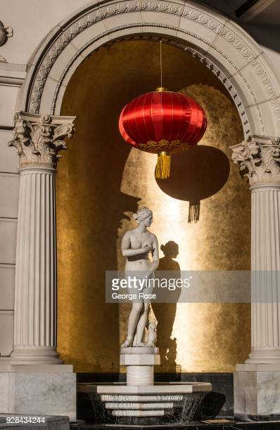 A statue of Venus greets visitors to Caesars Palace Hotel Casino on March 2 2018 in Las Vegas Nevada Millions of visitors from all all over the world...