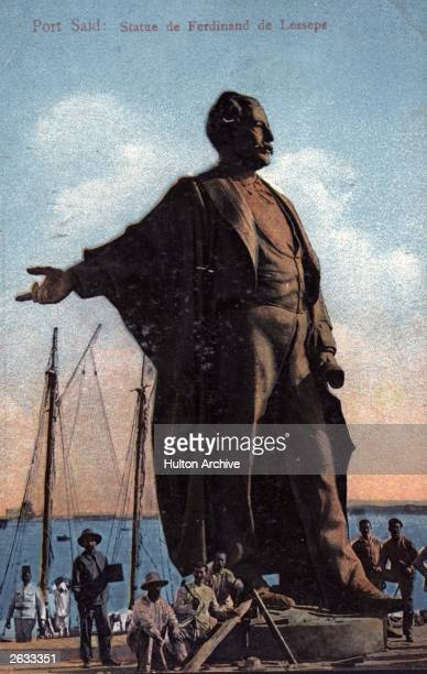 A statue of Vicomte Ferdinand Marie de Lesseps erected at Port Said He was a French diplomat and engineer who designed the Suez Canal Original...