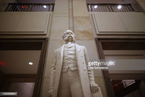 Statue of Wade Hampton III, a lieutenant general in the Confederate States Army calvary during the Civil War, U.S. Senator and governor of South...