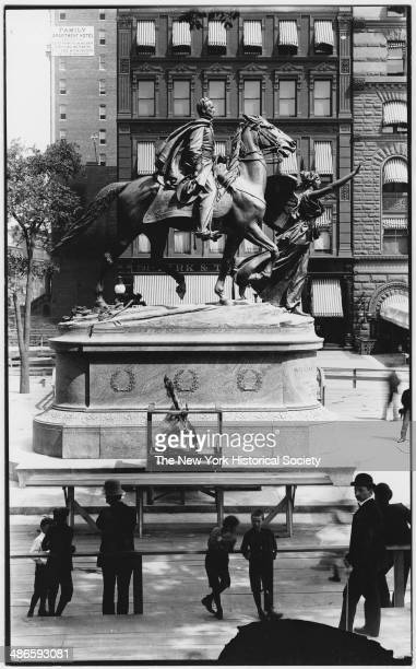 Statue of William Tecumseh Sherman outside Central Park between 59th Street and 60th Street New York New York mid 1900s