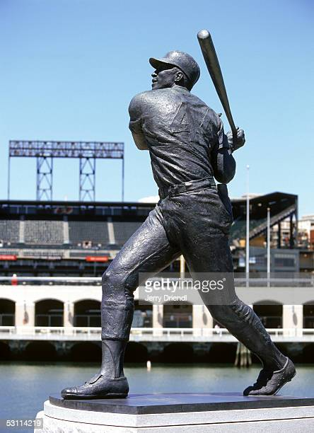 Statue of Willie McCovey stands outside of SBC Park circa May of 2005 in San Francisco, California.