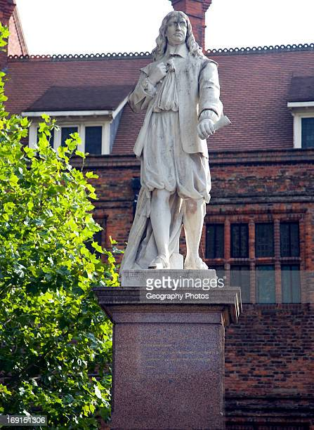 Statue of writer Andrew Marvell Hull Yorkshire England