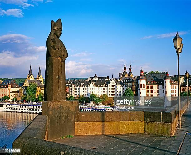 Statue on a bridge, Koblenz, Germany