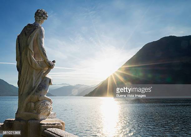 statue on the Lake of Como