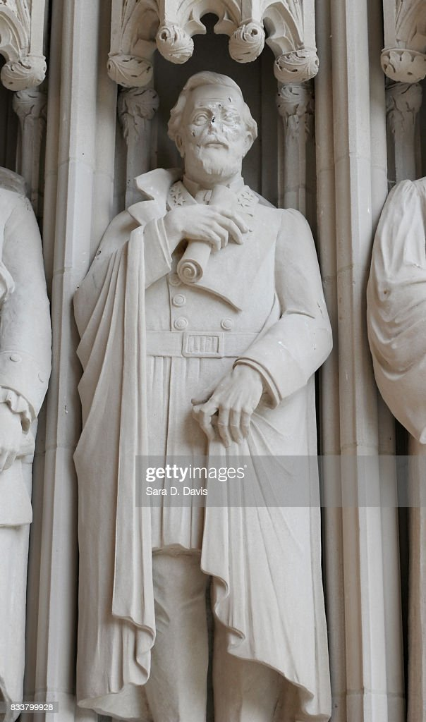 A statue on the portal of Duke University Chapel bearing the likeness of Confederate General Robert E. Lee was vandalized on early August 17, 2017 in Durham, North Carolina. The statue is one of 10 historical figures adorning the exterior of the chapel; the group includes significant figures from the American South and the Protestant and Methodist traditions.