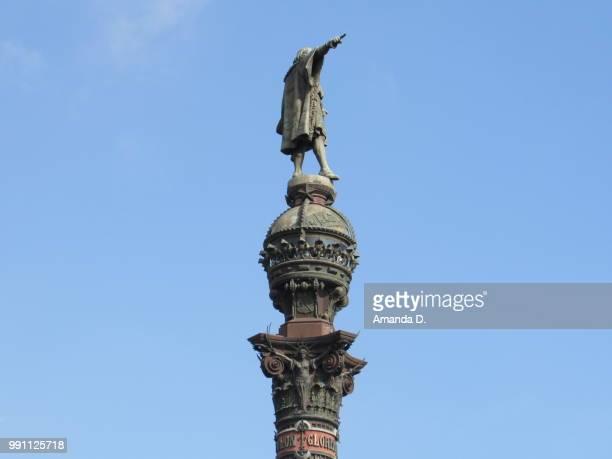 statue - cristobal colon fotografías e imágenes de stock