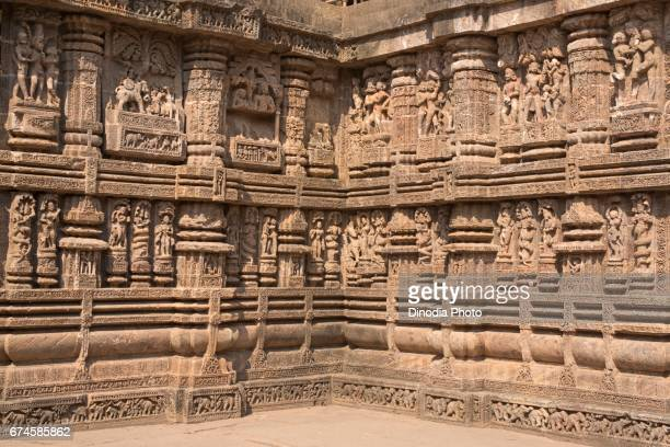 Statue, sun temple, konark, orissa, india, asia