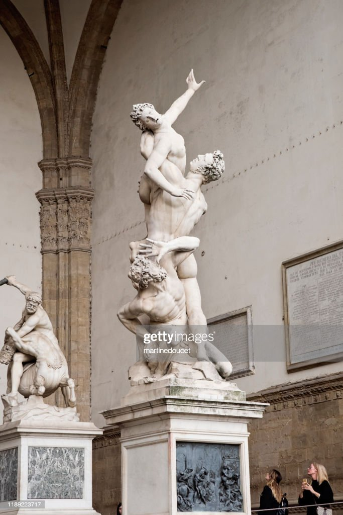 Statue The Rape of the Sabine Women, Florence Italy : Stock Photo