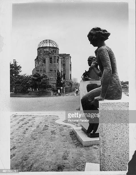 A statue to those injured in the atomic bomb at Hiroshima during World War Two Japan circa 19451950