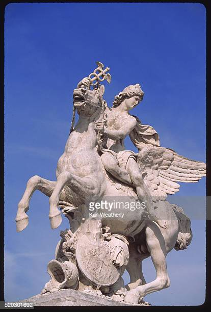statue with caduceus - hermes stock pictures, royalty-free photos & images