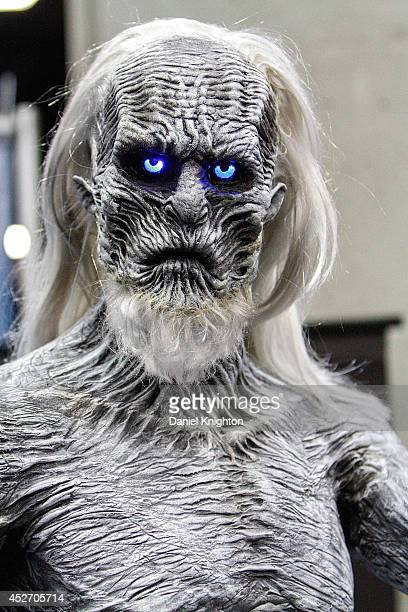 A statued of a White Walker character from the HBO series Game Of Thrones on display at ComicCon International at San Diego Convention Center on July...