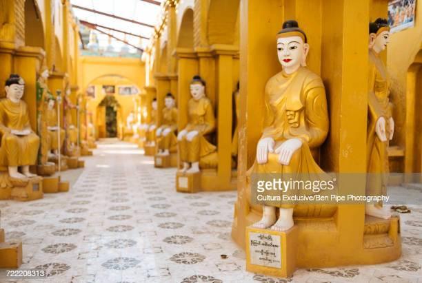Statues at buddhist temple, Mandalay, Mandalay Region, Myanmar