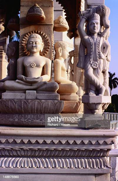 statues at digambara jain temple - digambara stock-fotos und bilder