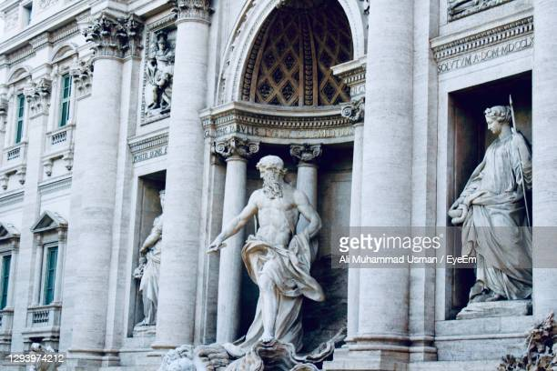 statues in a historical building in rome city center italy - muhammad ali center stock pictures, royalty-free photos & images