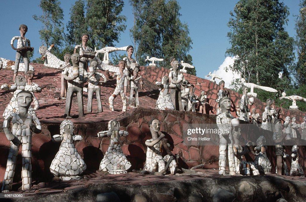 Statues in Nek Chand`s Fanatasy Garden