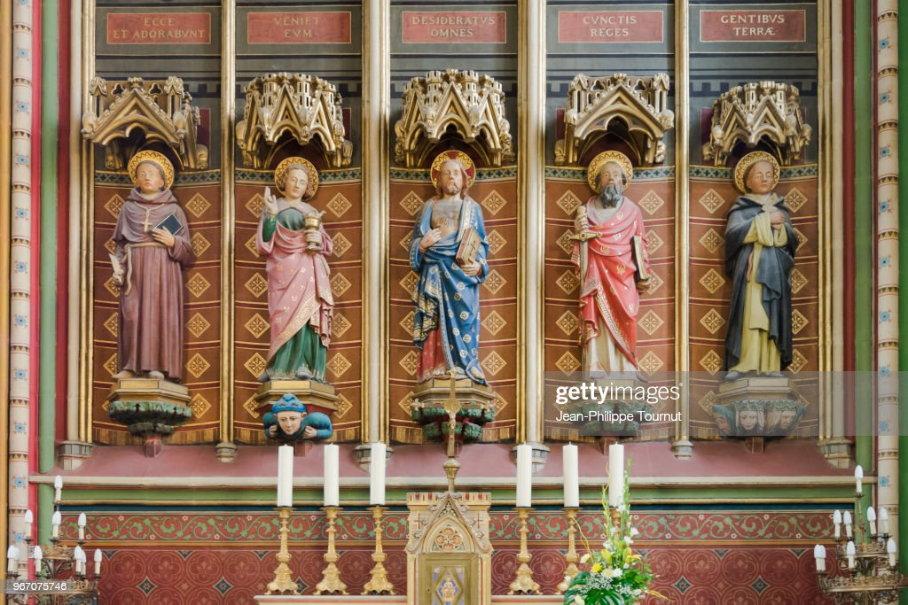 Statues in the Chapel of the Sacré Coeur, Saint Etienne Cathedral of Limoges, France : Stock Photo
