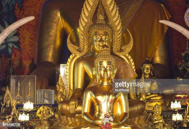 Statues of Budda inside Wat Phrathat Doi Suthep temple near Chiang Mai On Wednesday June 13 in Wat Phrathat Doi Suthep Chiang Mai Thailand