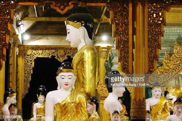 statues of buddha in temple - ko ko htike aung stock pictures, royalty-free photos & images