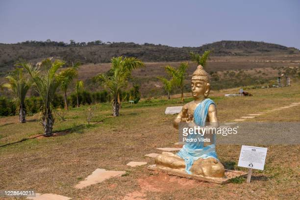 Statues of Buddha is seen in Sao Tome das Letras amidst the coronavirus pandemic on September 19, 2020 in Sao Tome das Letras, Brazil. Sao Tome das...