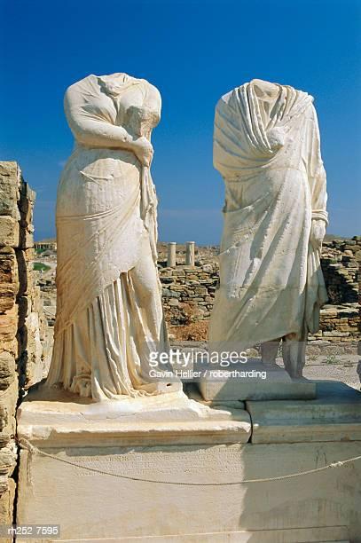 Statues of Cleopatra and Dioscrides, Delos, Cyclades Islands, Greece