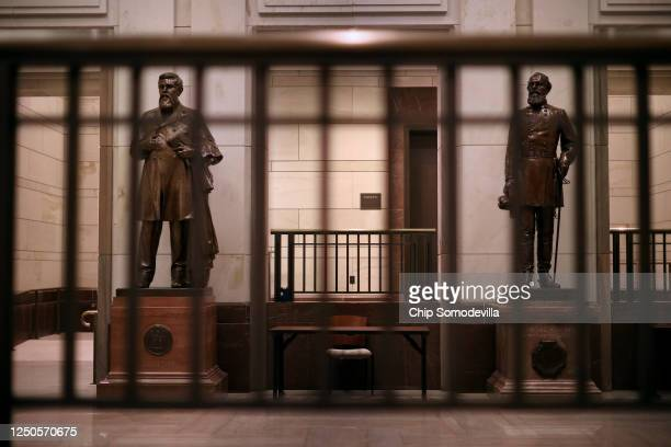 Statues of James Zachariah George , a colonel in the Confederate Army and U.S. Senator from Mississippi, and Edmund Kirby Smith, a native Floridian...
