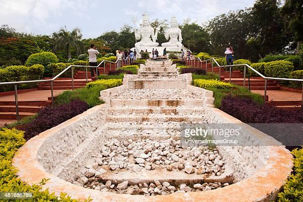 Statues of Lord Shiva and Goddess Parvathi in a park, Kailasagiri Park, Vishakhapatnam, Andhra Pradesh, India.