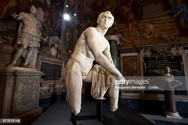 """Statues on display during the opening of a special exhibition 'L'Eta della conquista"""" """"The Edge of Conquer"""" , running from March 13 to September 5..."""