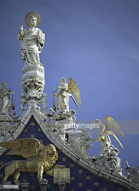 Statues on St. Mark's Basilica, Venice, Italy