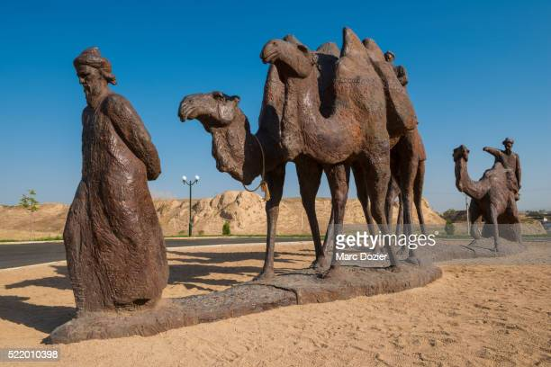 Statues on the silk road