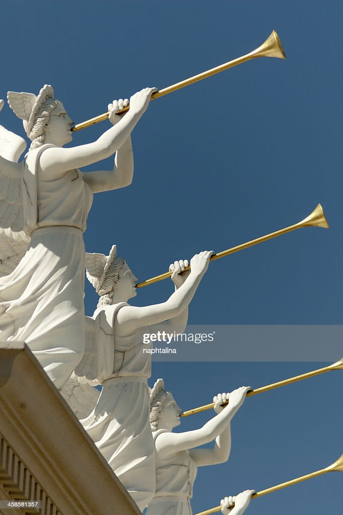 Statues over Ceasars Palace : Stock Photo