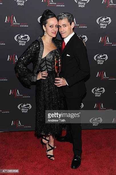 Statuette Designers Isabel Toledo and Ruben Toledo attend the 2015 AAFA American Image Awards on April 27 2015 in New York City