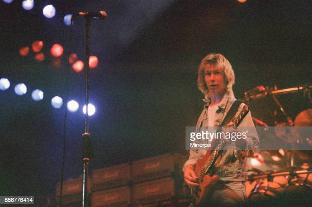 Status Quo in concert at the NEC in Birmingham 11th December 1990 Our Picture Shows John Edwards aka Rhino