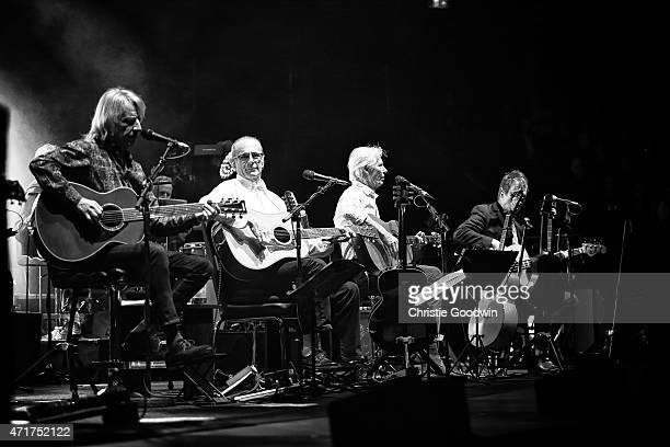 LONDON ENGLAND APRIL 30 Status Quo performs on stage as part of their acoustic tour 'Aquostic' at Royal Albert Hall on April 30 2015 in London United...
