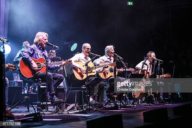 Status Quo performs on stage as part of their acoustic tour 'Aquostic' at Royal Albert Hall on April 30 2015 in London United Kingdom