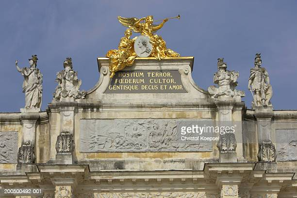 statute at gate - nancy stock pictures, royalty-free photos & images