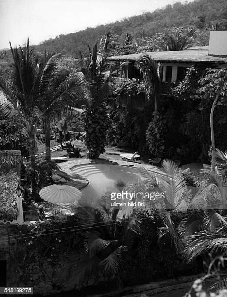 Stauffer Teddy * Musiker Bandleader Schweiz einer seiner Bungalows in Acapulco/Mexico 1960