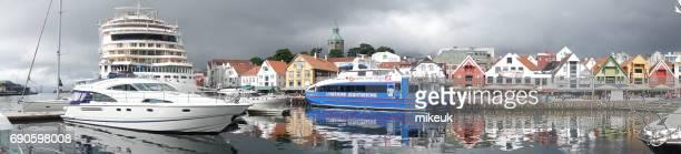 Stavanger Norwegen Stadtszene Zentrum Hafen