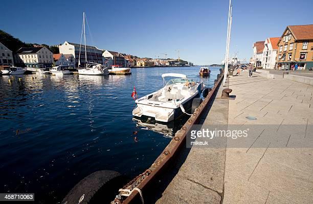 Stavanger Norwegen Skandinavien city harbour-Motiv
