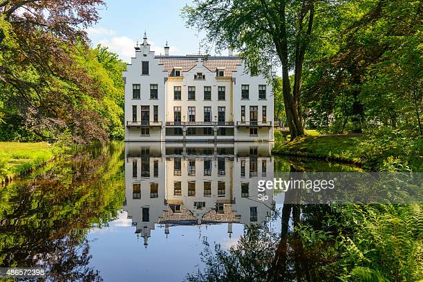 Staverden castle house and pond