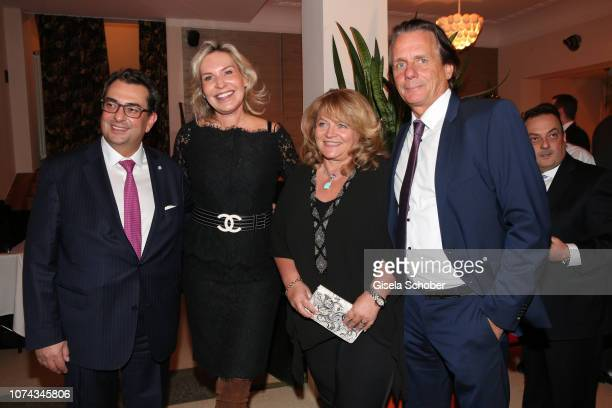 Stavros Kostantinidis and his wife Saskia GreiplKostantinidis Alexandra Schoerghuber and her husband Bernd Werndl during the annual christmas roast...