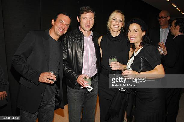 Stavros Merjos Glenn Fuhrman Amanda Steck and Delia Brown attend AKRIS Cocktail Party in celebration of the 2007 WHITNEY GALA honoring CHUCK CLOSE at...