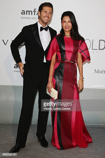 Stavros Niarchos and Goga Ashkenazi attend amfAR's 21st Cinema Against AIDS Gala Presented By WORLDVIEW BOLD FILMS And BVLGARI at Hotel du CapEdenRoc...