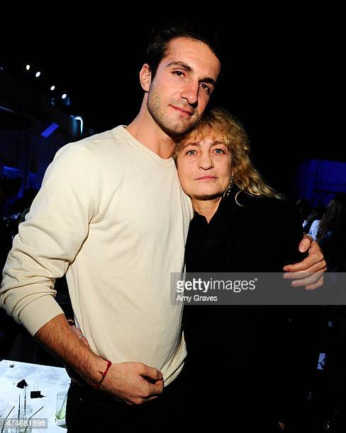 Stavros Niarchos and Victoria Niarchos attend the Just One Eye Launch of the Utilitarian Backpack Event at Just One Eye on December 5 2014 in...