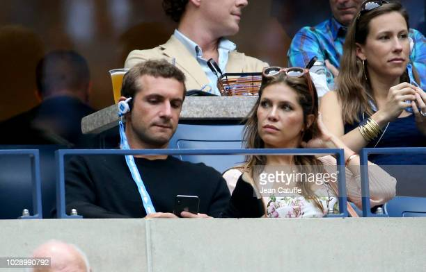 Stavros Niarchos III and Dasha Zhukova attend the men's semifinals on day 12 of the 2018 tennis US Open on Arthur Ashe stadium at the USTA Billie...
