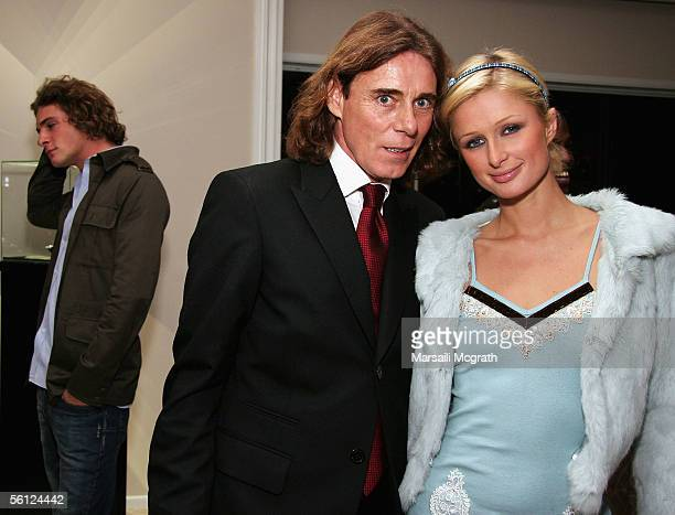 Stavros Niarchos III Celebrity Stylist George Blodwell and Socialite Paris Hilton attends the DeGrisogono Pre Award Viewing of '2006 Fine Jewelry And...