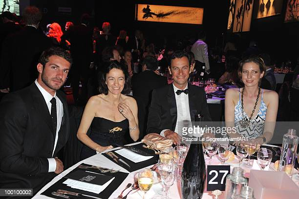 Stavros Niarchos Laudomia Pucci PierreYves Roussel and Katya Foreman attend amfAR's Cinema Against AIDS 2010 benefit gala dinner at the Hotel du Cap...