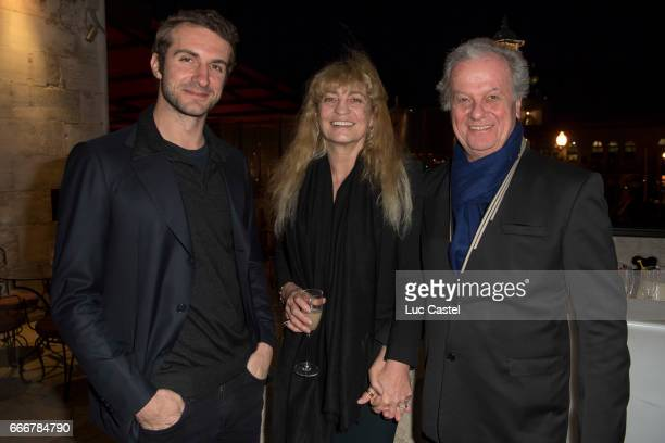 Stavros Niarchos Victoria Niarchos and Jacques Grange attend the opening of Damien Hirst 'Treasures From The Wreck Of The Unbelievable' new...