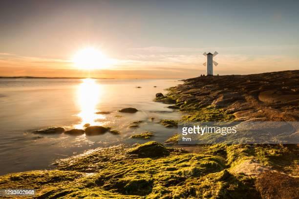 stawa młyny sunset (świnoujście/ poland) - poland stock pictures, royalty-free photos & images